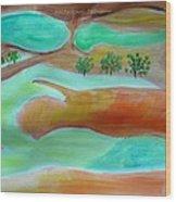 Picturesque Landscape Wood Print