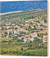 Picturesque Mediterranean Island Village Of Kolan Wood Print