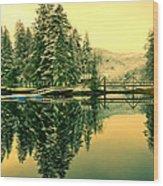 Picturesque Norway Landscape Wood Print