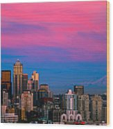 Picturesque Seattle Wood Print