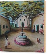 Picturesque Spanish Village Wood Print by Stefon Marc Brown