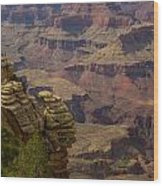 Picturesque View Of The Grand Canyon Wood Print