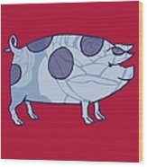 Piddle Valley Pig Wood Print