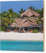Piece Of Paradise. Maldives Wood Print