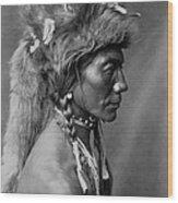 Piegan Indian Circa 1910 Wood Print