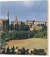 Pienza A Hill Town In Tuscany Wood Print