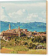 Pienza Italy Wood Print