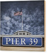 Pier 39 Wood Print