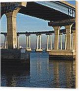 Pier 4- Coronado Bridge Wood Print