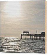 Pier 60  Near Sunset Wood Print