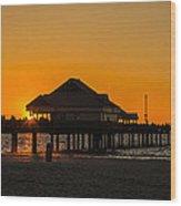Pier 60 Sunset Wood Print