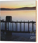 Pier At Bodega Bay California Wood Print
