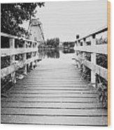 Pier At Kinderdjik Wood Print by Ivy Ho