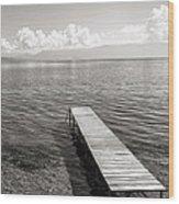 Pier At Lake Ohrid Wood Print