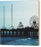Pier Atlantic City Wood Print