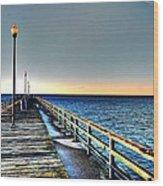 Pier - Chesapeake Bay Bridge #1 Wood Print