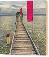 Pier Flags Wood Print