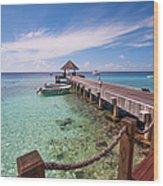 Pier Into Blue. Resort Vivanta By Taj Wood Print
