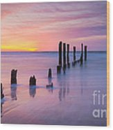 Pier Into The Past 16x9 Wood Print