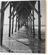 Pier Path Wood Print