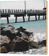 Pier Poster Wood Print by Sharon McLain