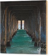 Pier Pylons Wood Print