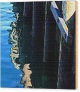 Pier Reflection Wood Print