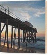Pier Side Wood Print