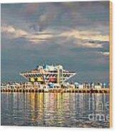 Pier Sunset  Wood Print