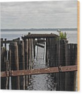 Pier To Nowhere Wood Print