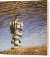 Pier Tower Wood Print by Dave Bowman