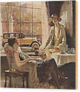 Pierce-arrow 1920s Usa Cc Drinking Tea Wood Print