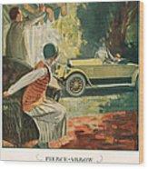 Pierce Arrow 1925 1920s Usa Cc Cars Wood Print