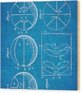 Pierce Basketball Patent Art 1929 Blueprint Wood Print by Ian Monk