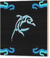 Pierced Dolphin Wood Print