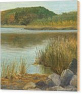 Piermont Shoreline Wood Print
