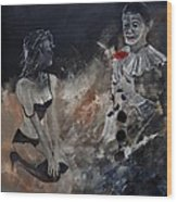 Pierrot Lunaire Wood Print