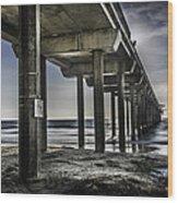 Piers At La Jolla California. Wood Print