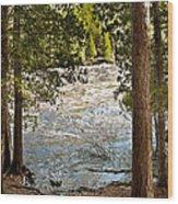 Piers Gorge Wood Print