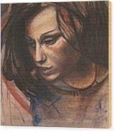 Pietro Annigoni-study Of Eva Wood Print by Svetlana Rudakovskaya