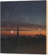 Pigeon Point Light At Sunset Wood Print