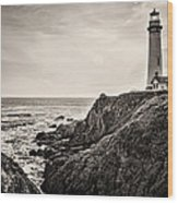 Pigeon Point Light Wood Print