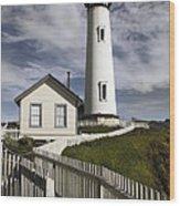 Pigeon Point Lighthouse II Wood Print