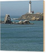 Pigeon Point Lighthouse Near Half Moon Bay-san Francisco Wood Print