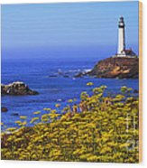 Pigeon Point Lighthouse Panoramic Wood Print