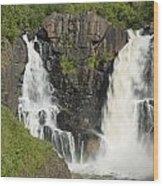 Pigeon River High Falls 2 Wood Print