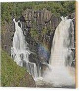 Pigeon River High Falls 4 Wood Print
