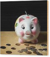 Piggy Bank Wood Print by Sinisa Botas