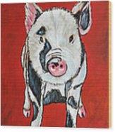 Piggy Wood Print