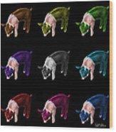 Piglet Pop Art - 0878 Fs - M - Bb Wood Print